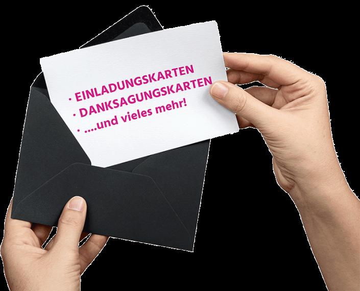 Einladungskarten, Hochzeitseinladungskarten drucken in Moenchengladbach Copy Service