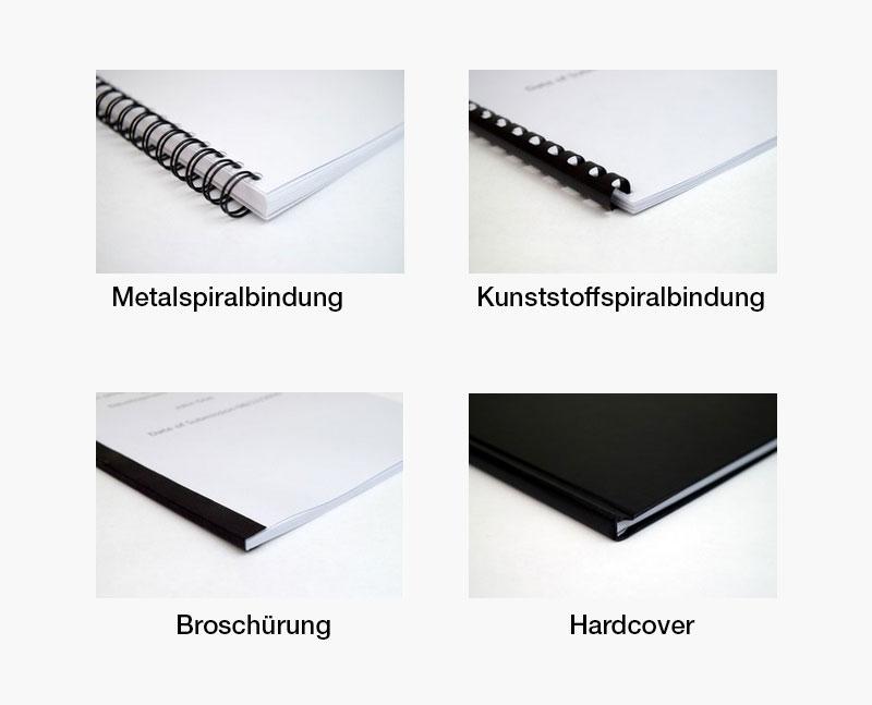 Bindungen für Bachelorarbeite, Masterarbeiten, Hausarbeiten - Copy Service Mönchengladbach