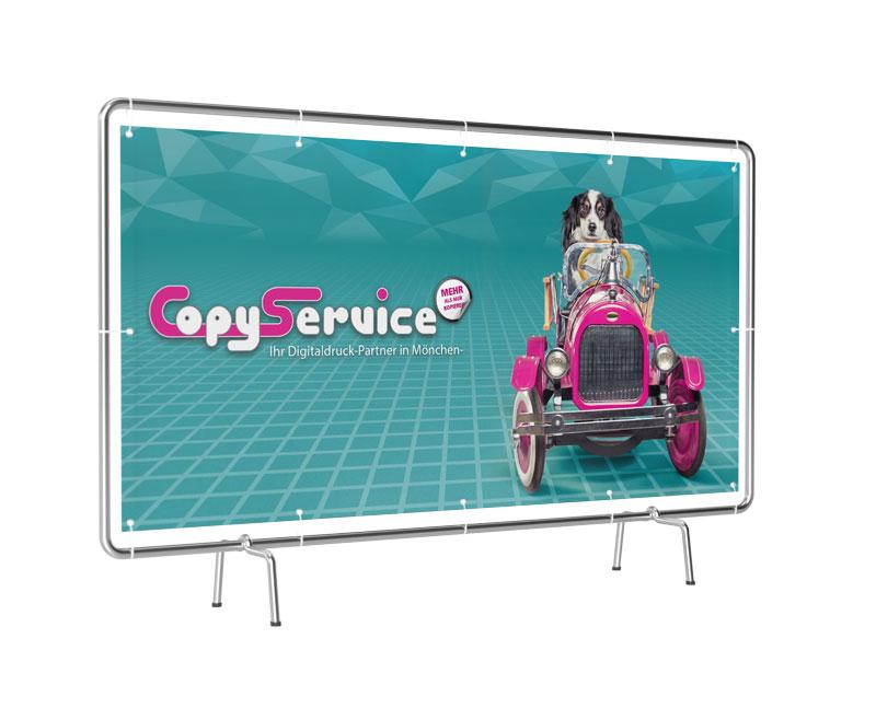 Banner in verschiedenen Formaten drucken und Erstellung der Vorlage